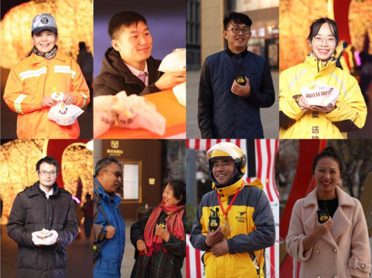 你有故事?我有大餐!北京街头出现美团免费外卖大篷车